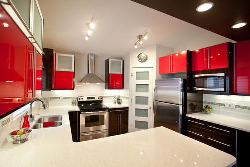 kuchnia-czerwień-biel