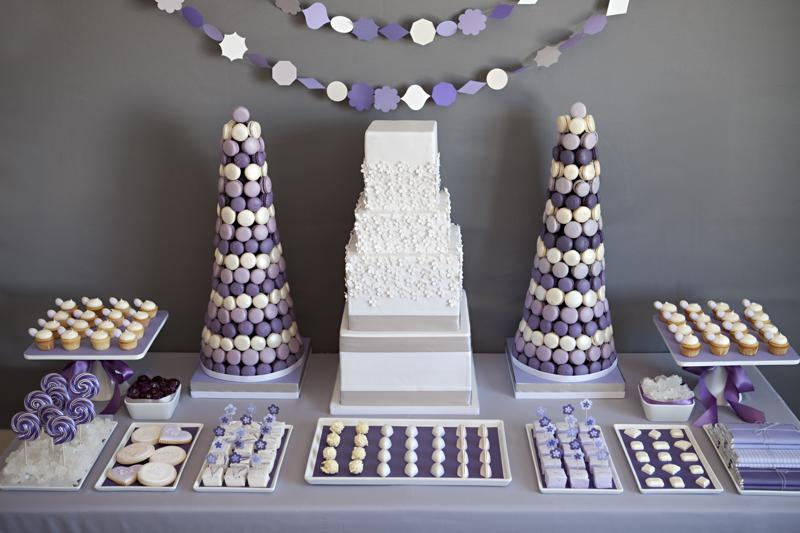 Chic Towering Dessert Table
