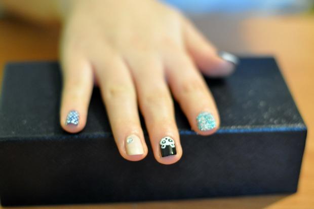 panda na paznokciach
