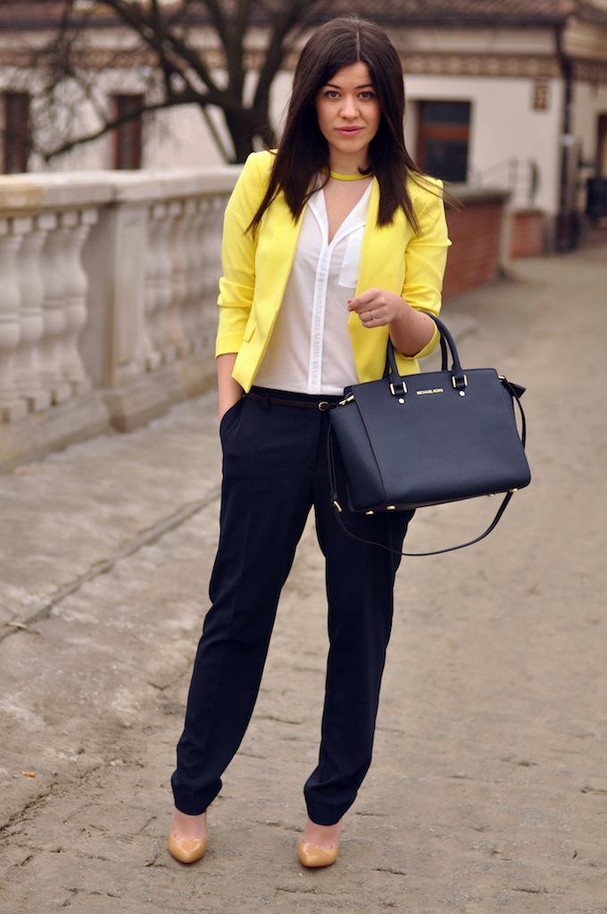 b1a0bad3eaea3 Cytrynowa marynarka w stylizacji – Fashionelka.pl – blog