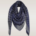 monogram shine shawl navy
