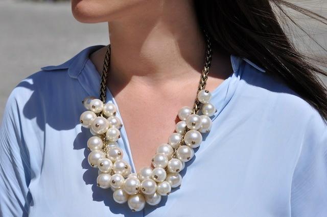 naszyjnik z perłami zara