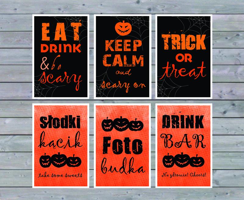 halloween oprawa graficzna