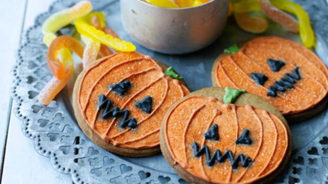 ciastka dynie halloween