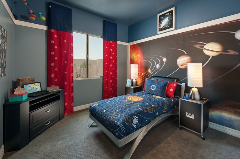 pokój dla dziecka kosmos
