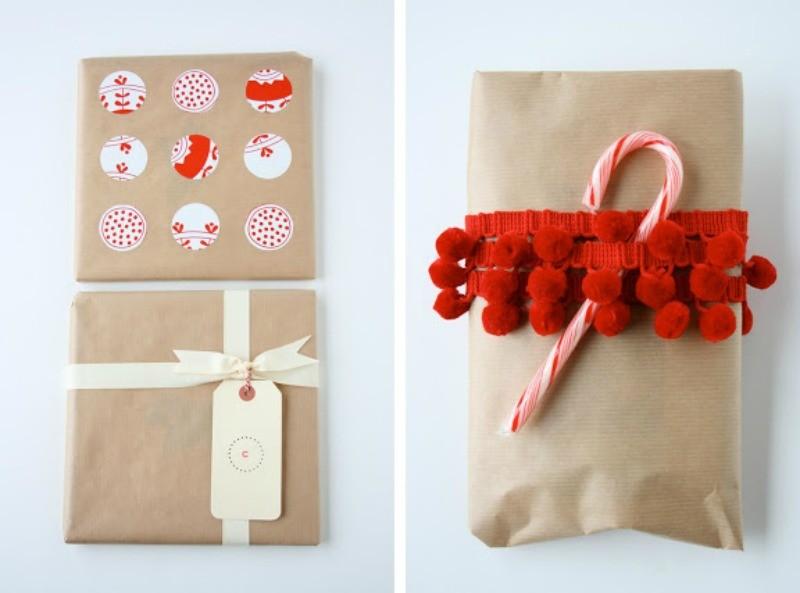 pakowanie prezentów brązowy papier