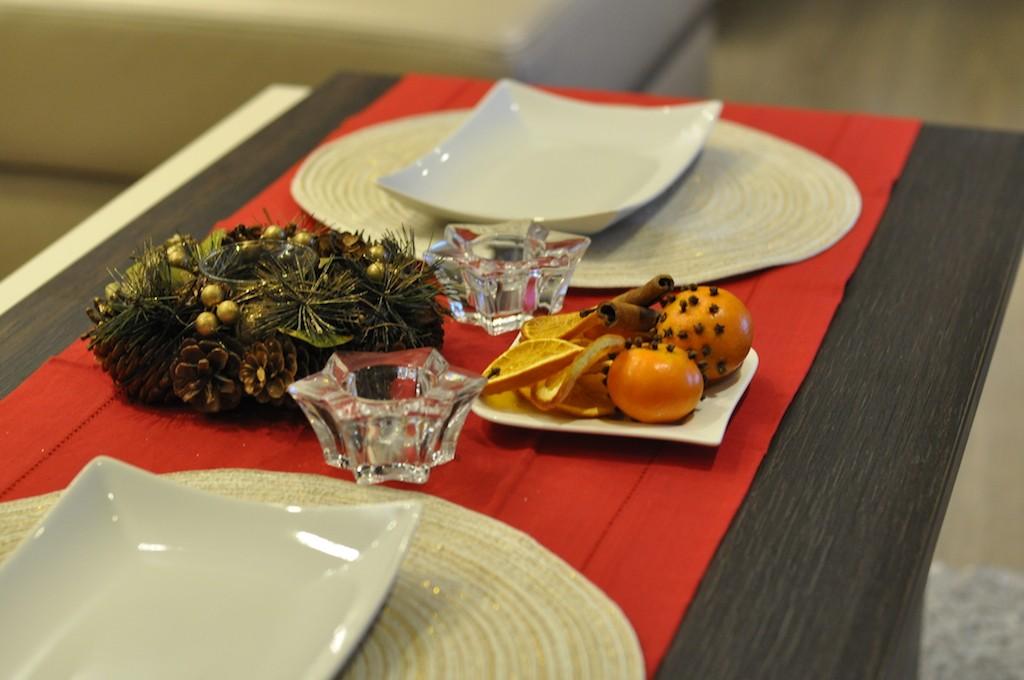 stół dekoracja na święta