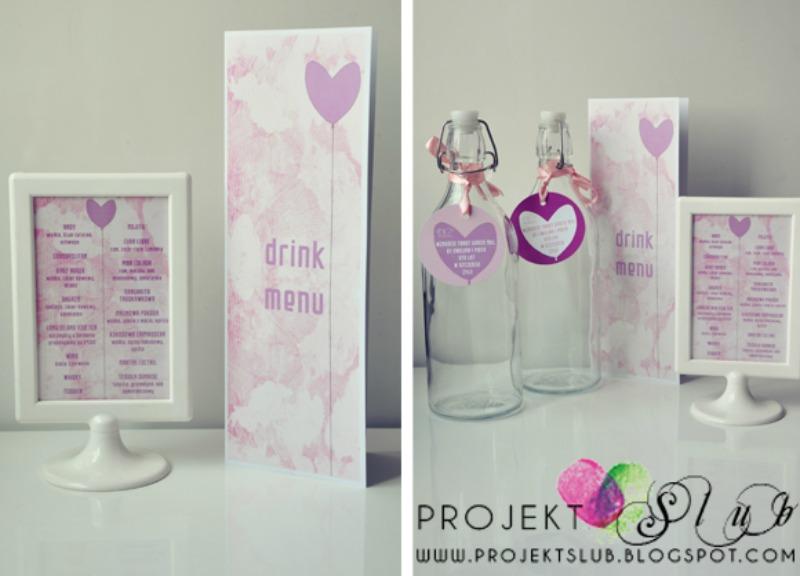fiolet ślub projekt slub