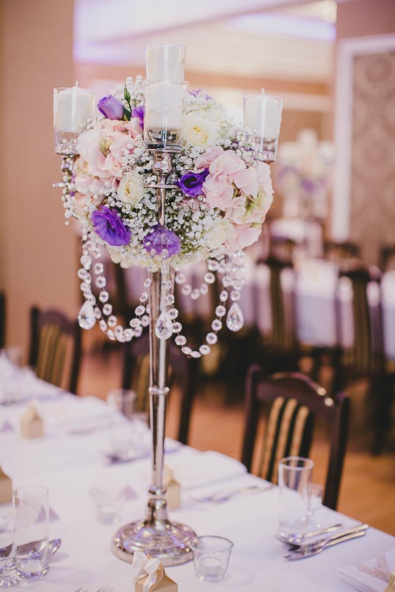 kwiaty wystrój stołu ślub