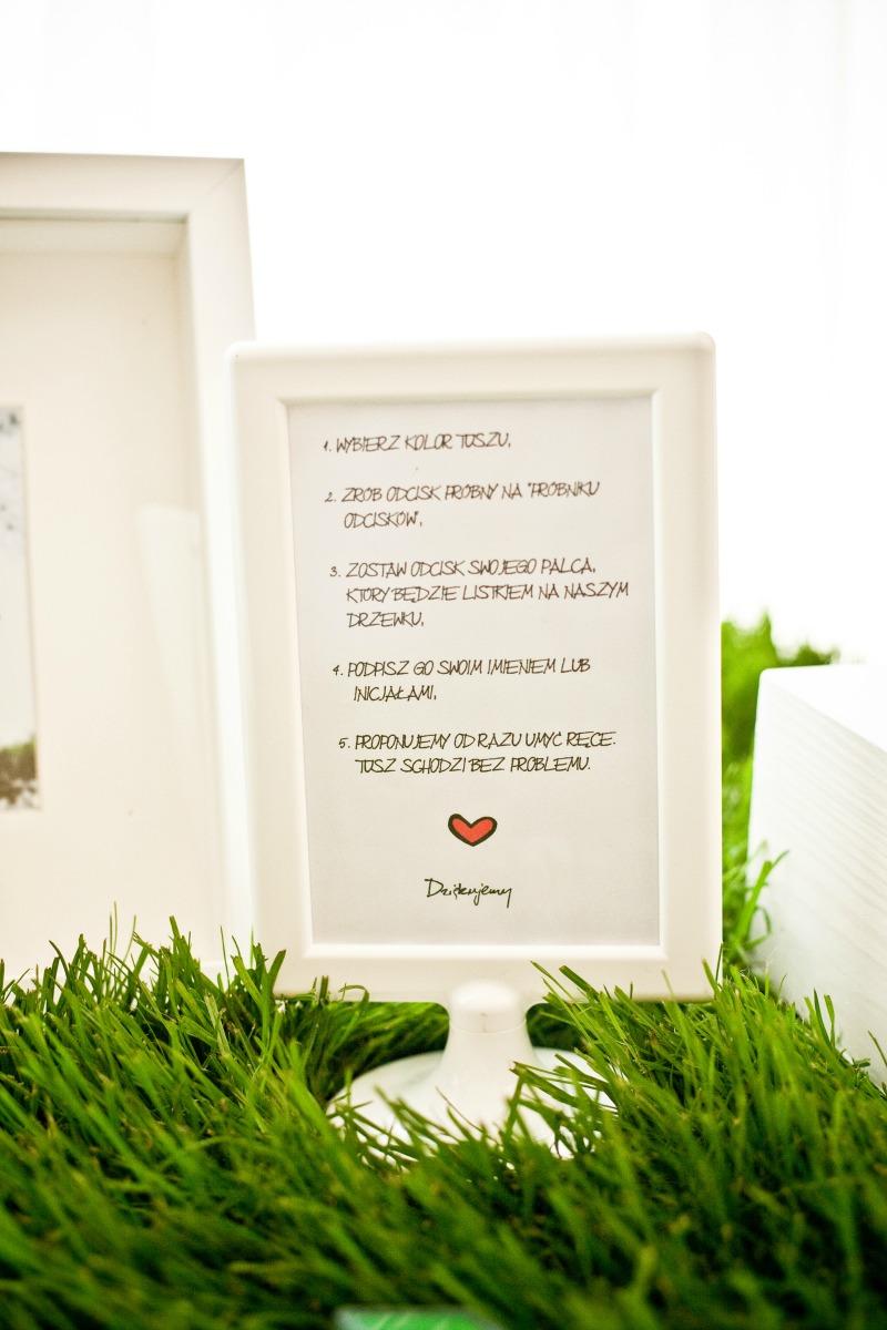 motyw trawy na weselu