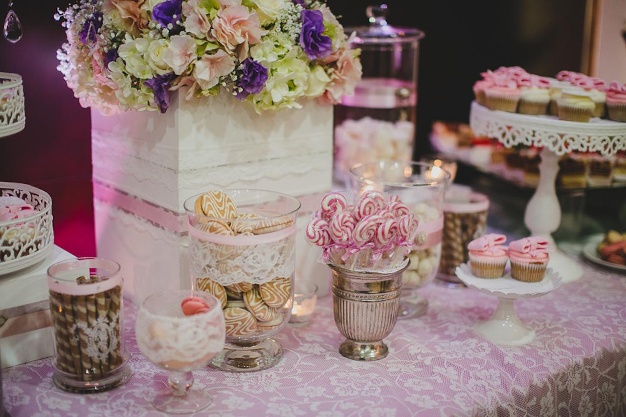 słodik kącik fiolet róż