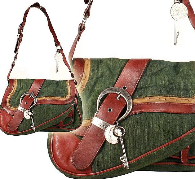 Dior Handbag Gaucho Double