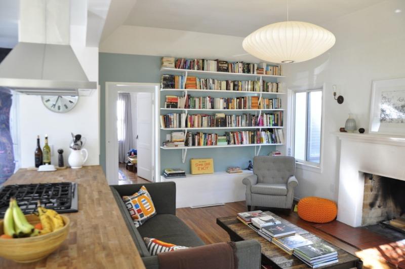 Pomys y na aran acje biblioteczki blog - Idee per arredare soggiorno con angolo cottura ...
