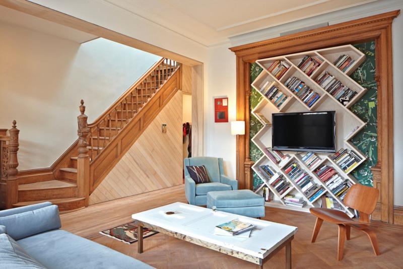 asymetryczne półki na książki