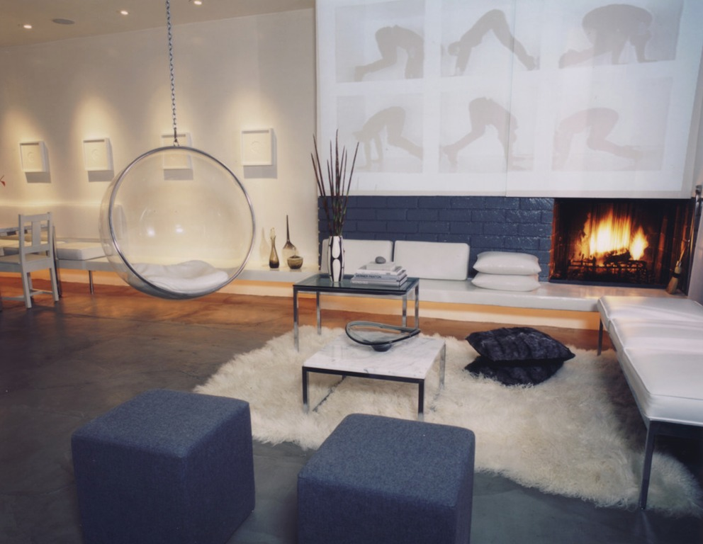 bubble chair w salonie