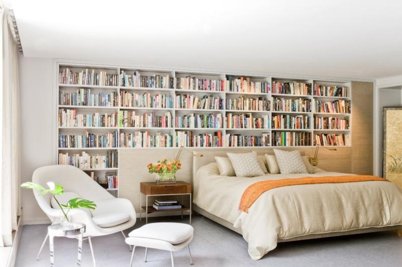 książki we wnętrzach