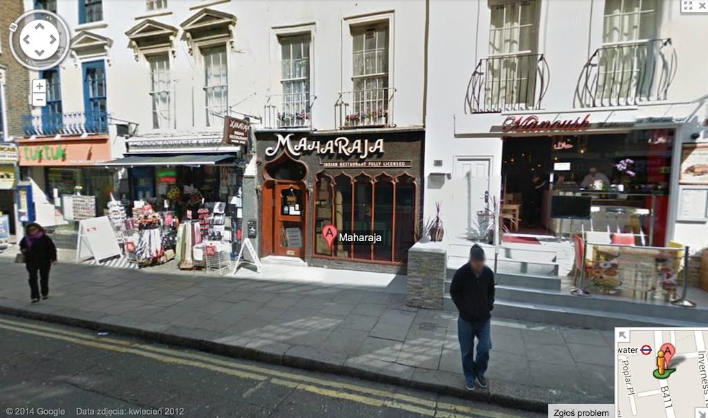 maharaja restauracja londyn