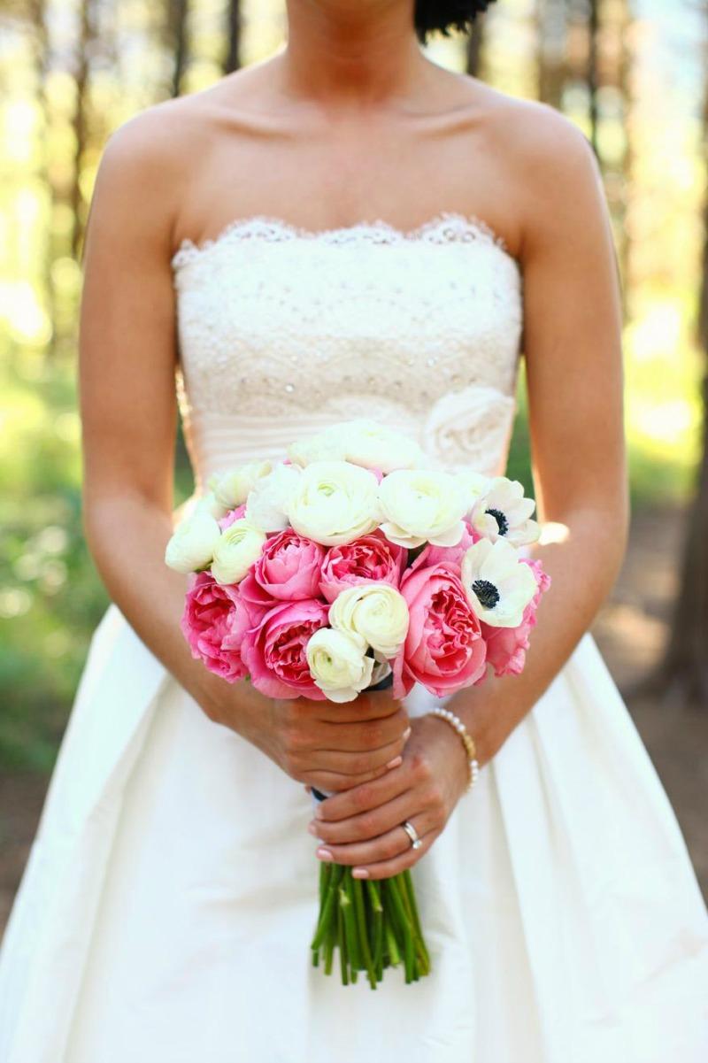 różowe wiązanki ślubne