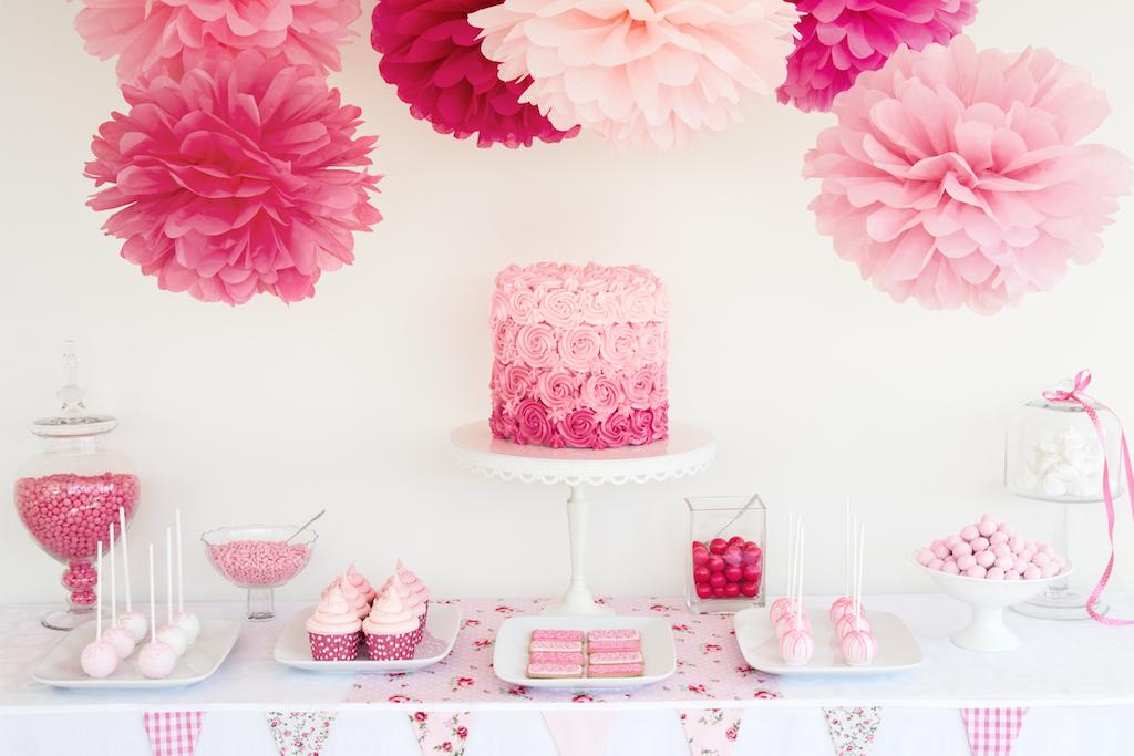 słodki kącik pudrowy róż