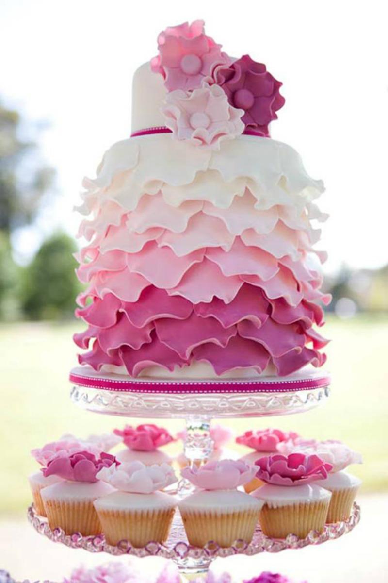 tort wesele róż