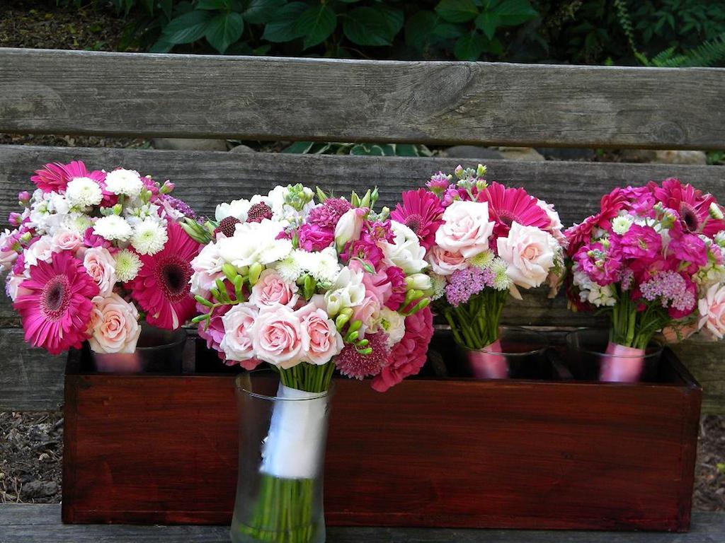 wiązanki ślubne róż