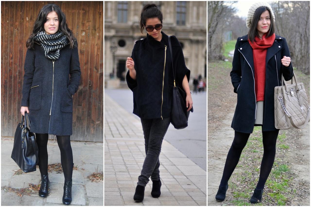czarne płaszcze