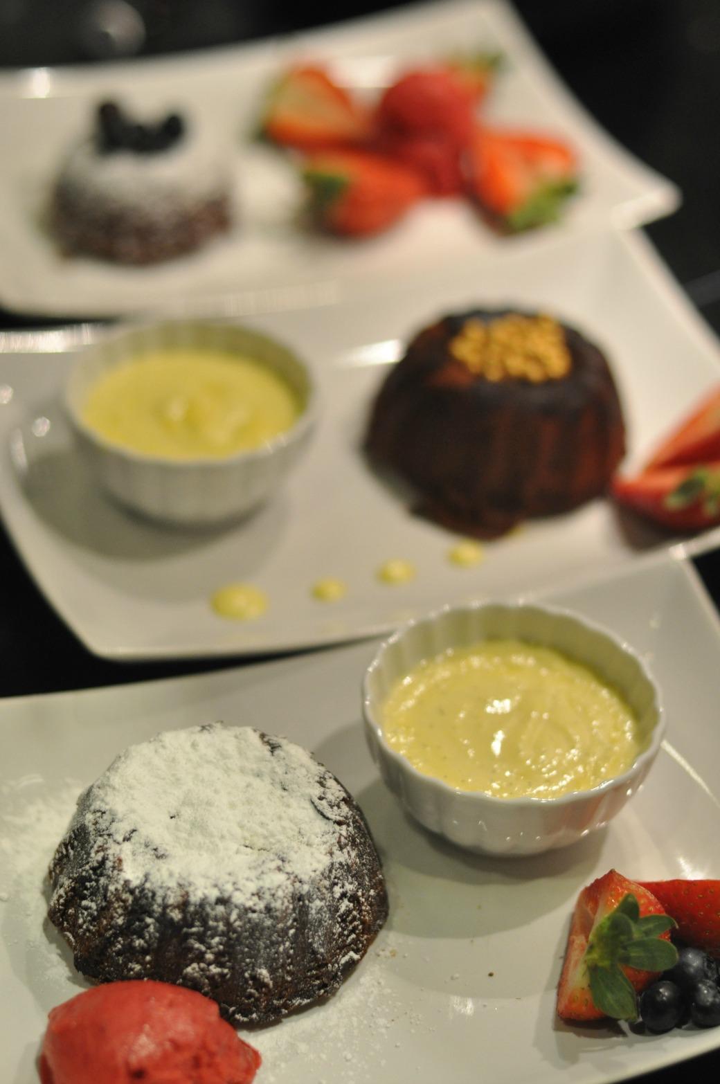 czekoladowy fondant ciastko