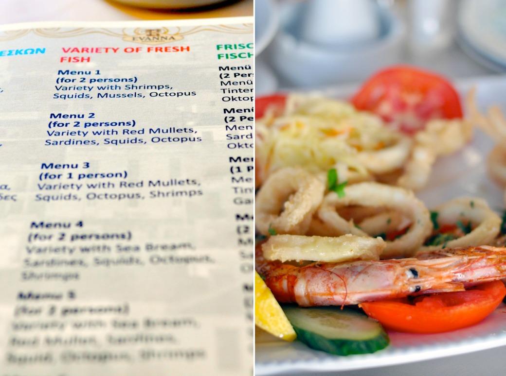 menu grecka tawerna