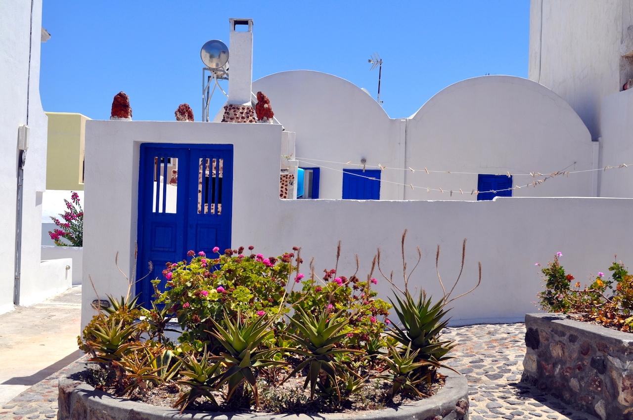 Santorini białe domki