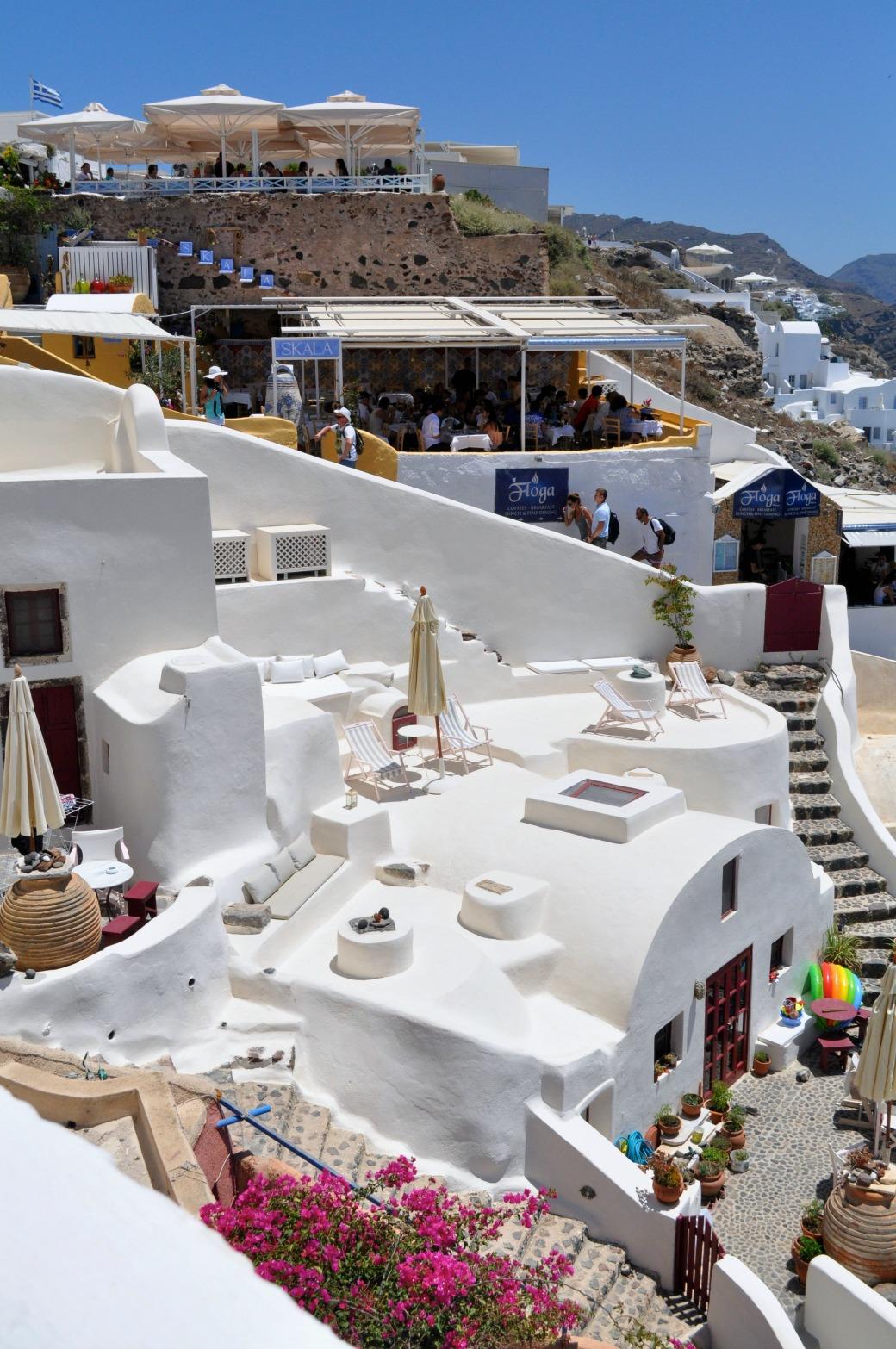 Santorini taras na dachu