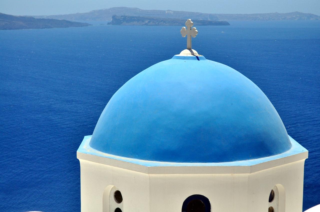 santorini widok na morze