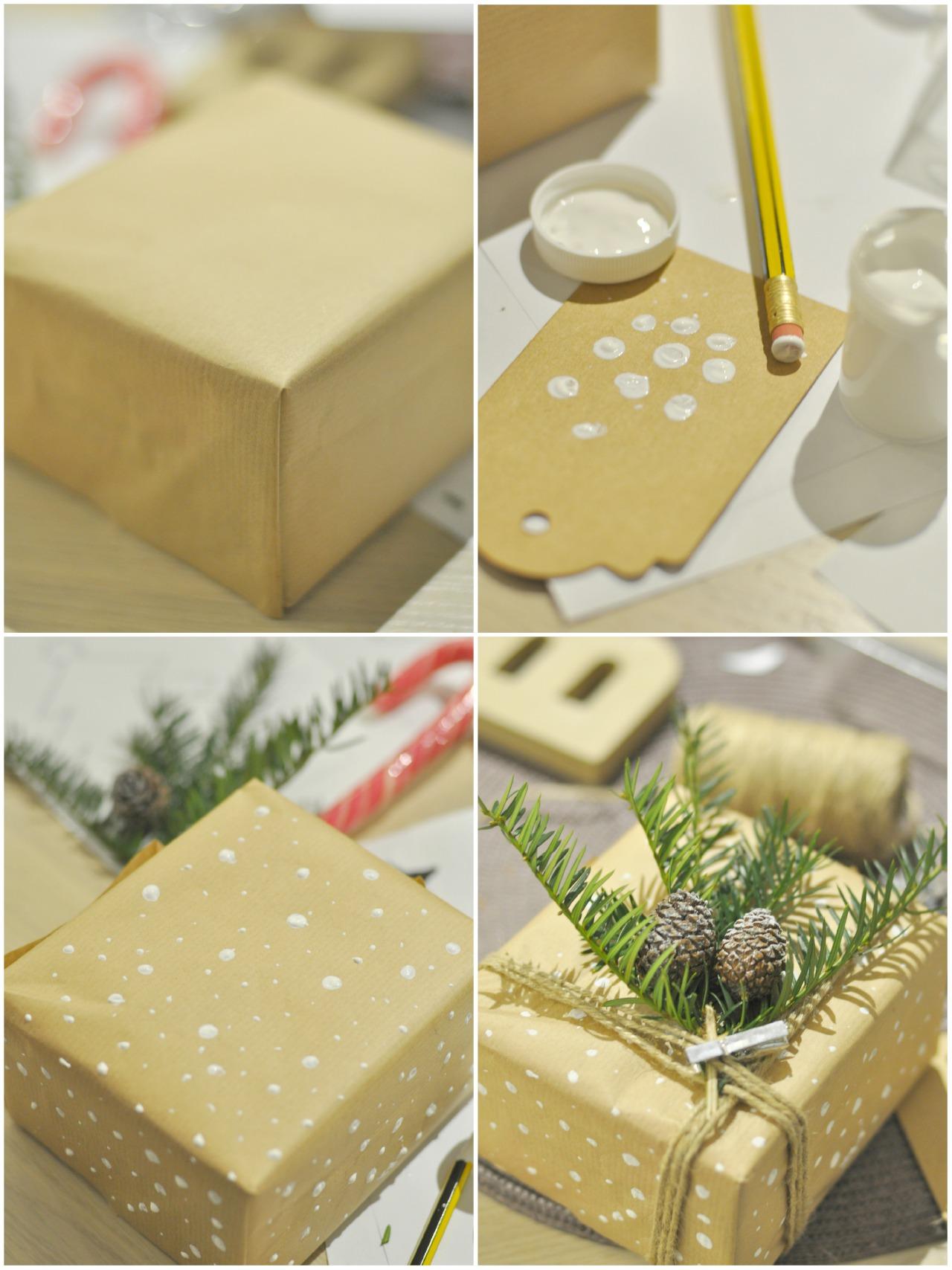 dekorowanie prezentów diy