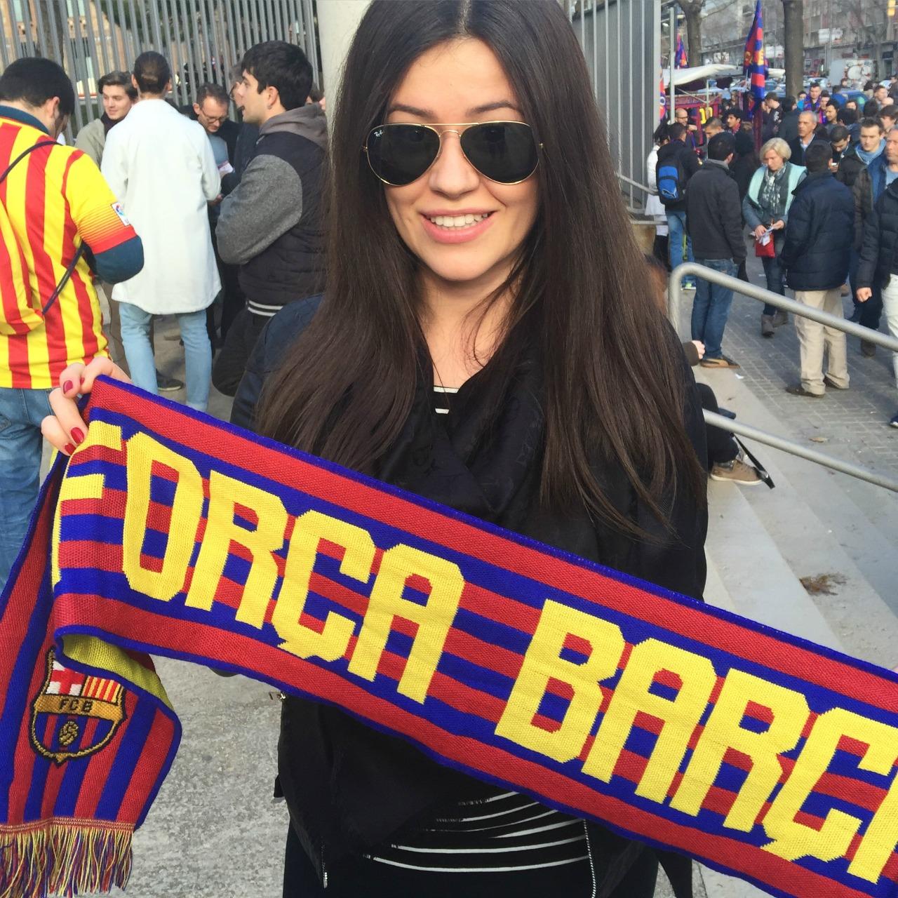 fashionelka mecz barcelony
