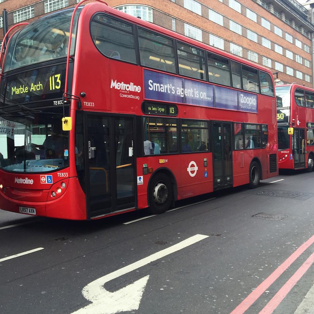 autobusy londyn