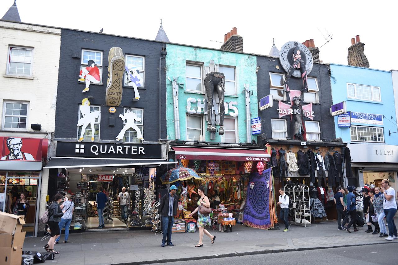 Odjechane sklepy w Camden Town