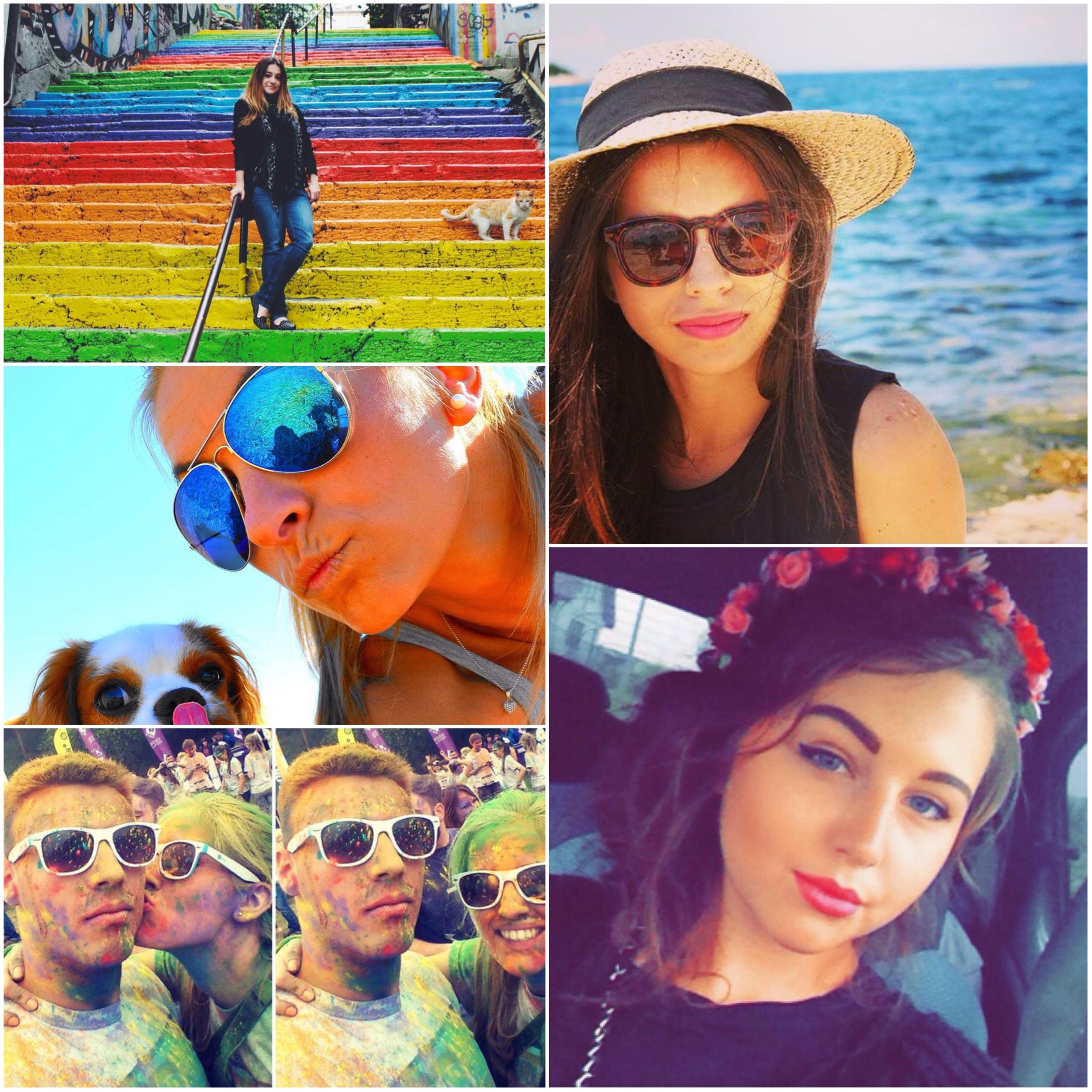 kolorowe selfie