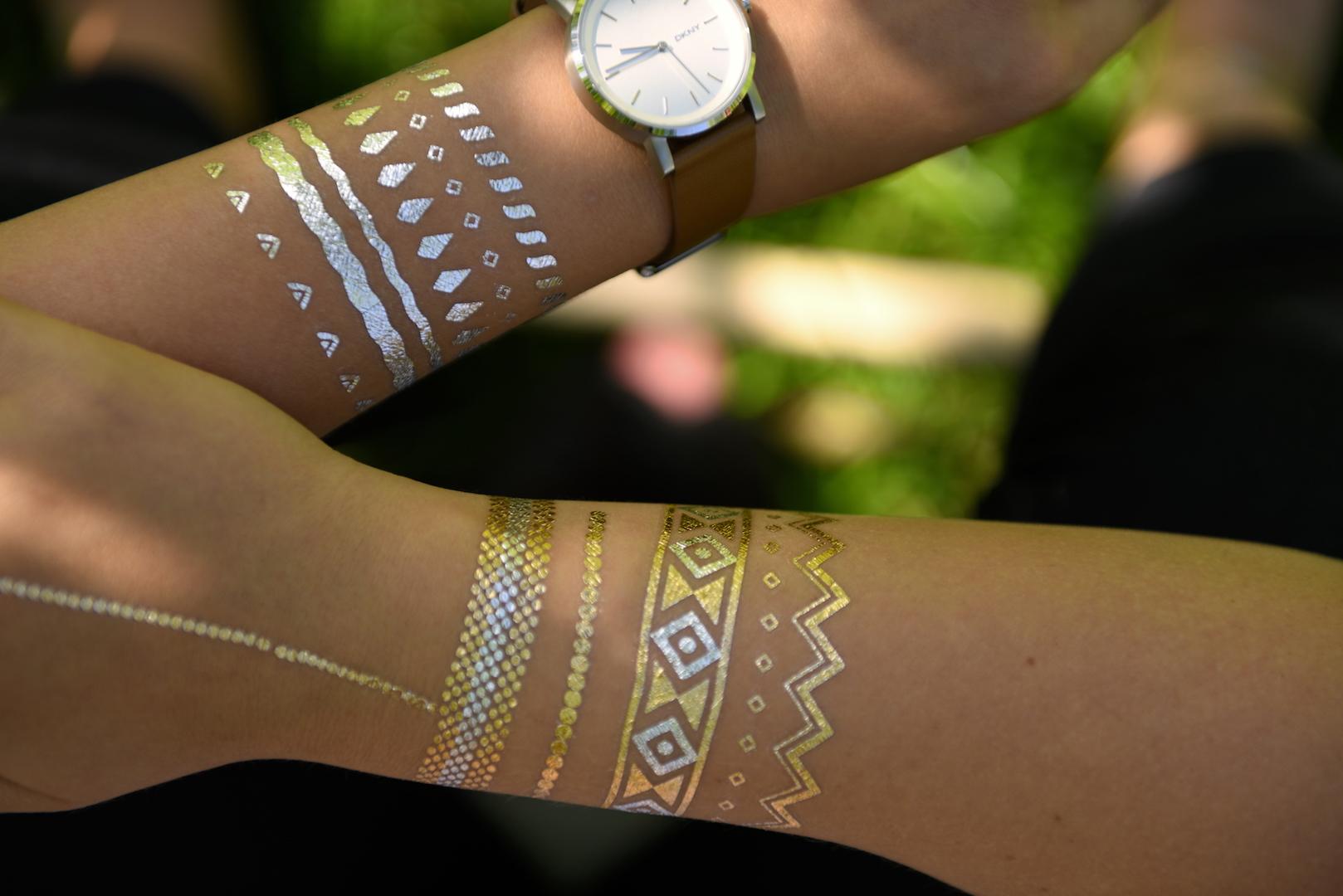 Gorący Trend Metaliczne Tatuaże