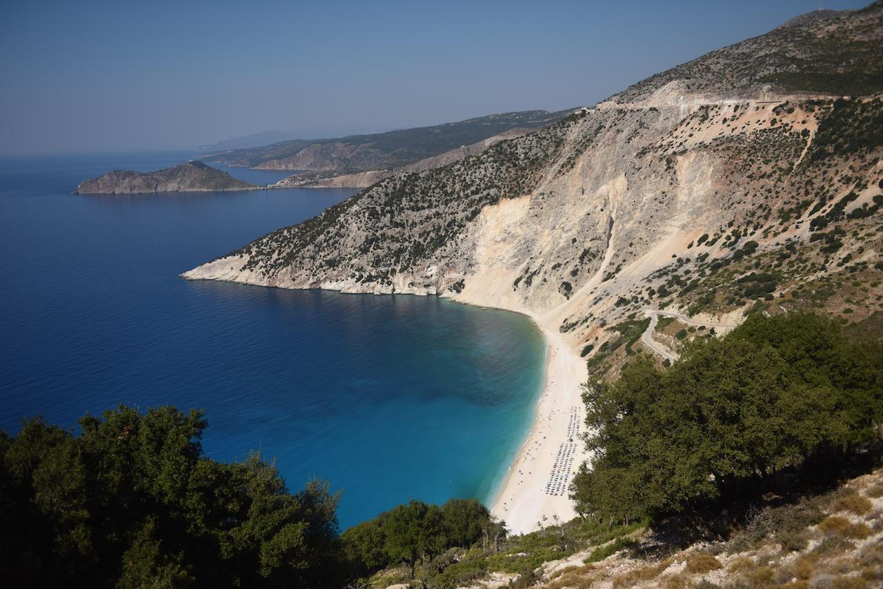 Plaża myrtos kefalonia wycieczka
