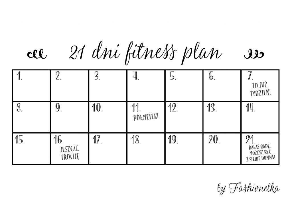 21 dni fitnss plan tabelka