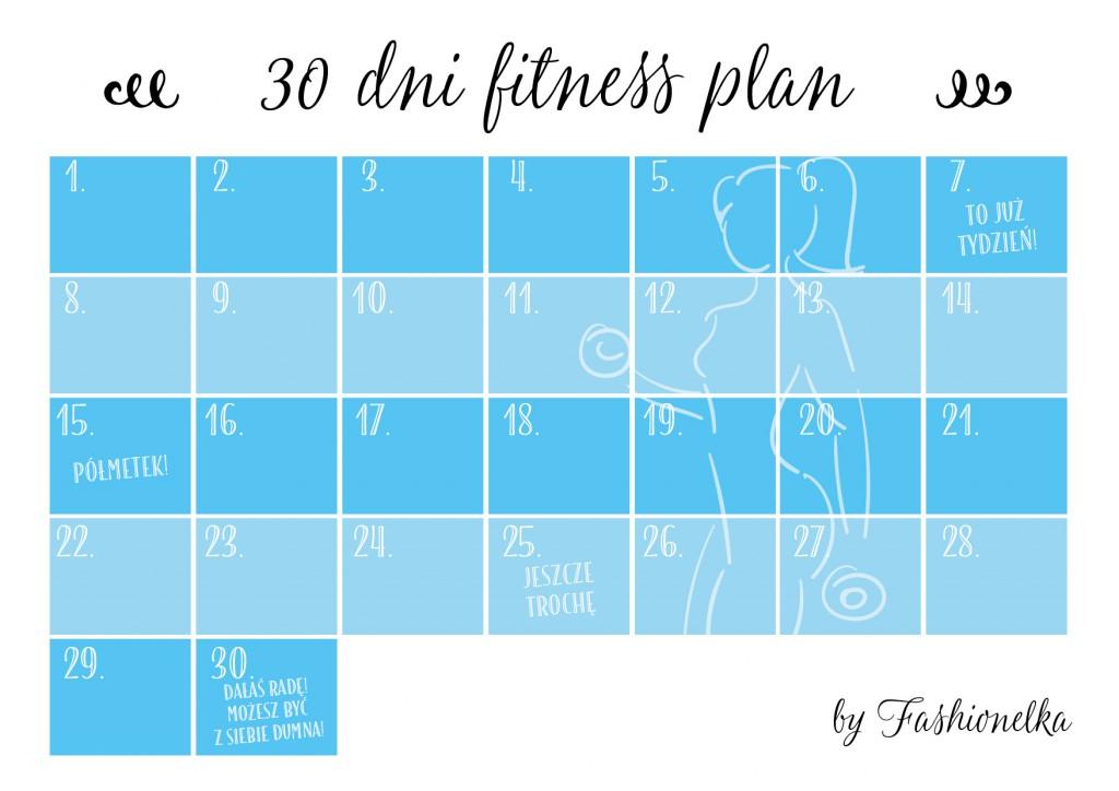 30 dni fitness plan tabelka