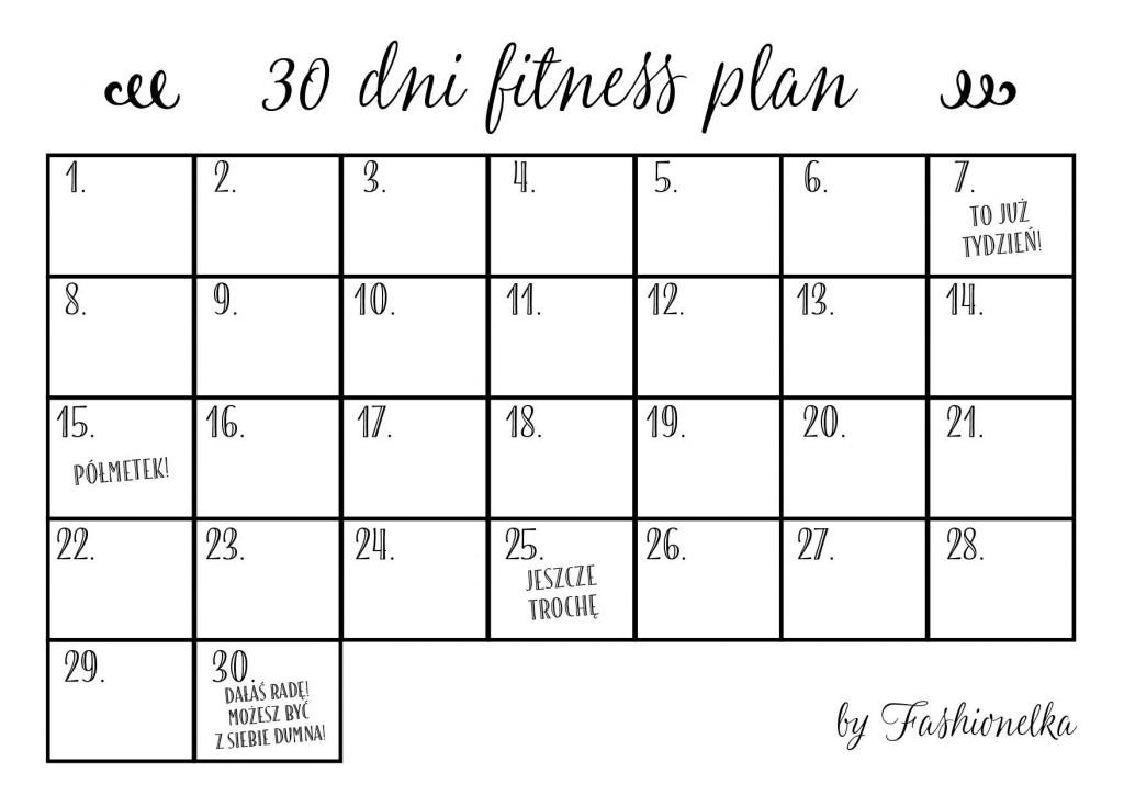 30 dni fitness plann