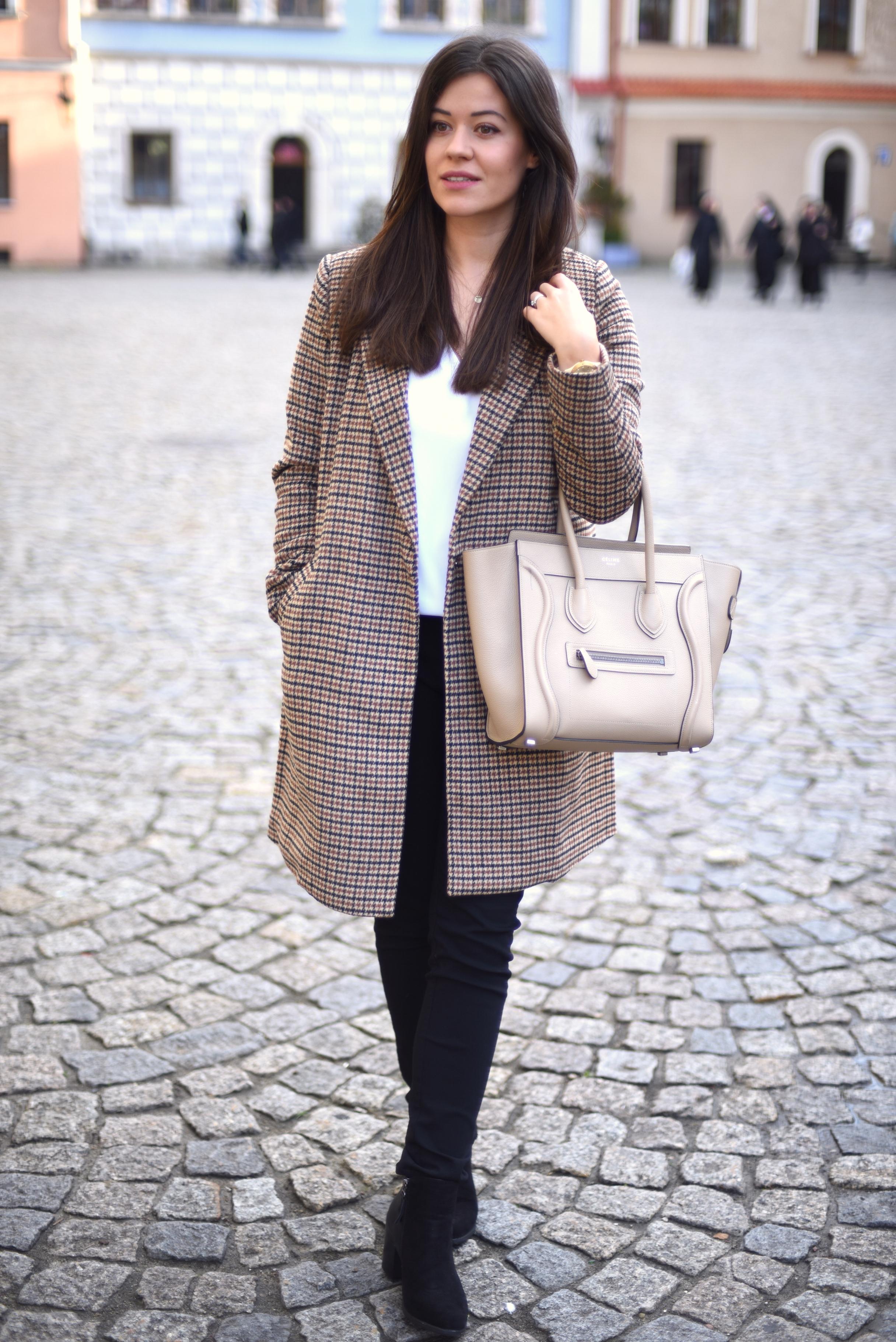 fashionelka stylizacja płaszcz
