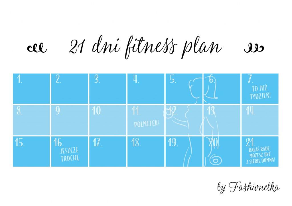 tabelka 21 dni gitness plan