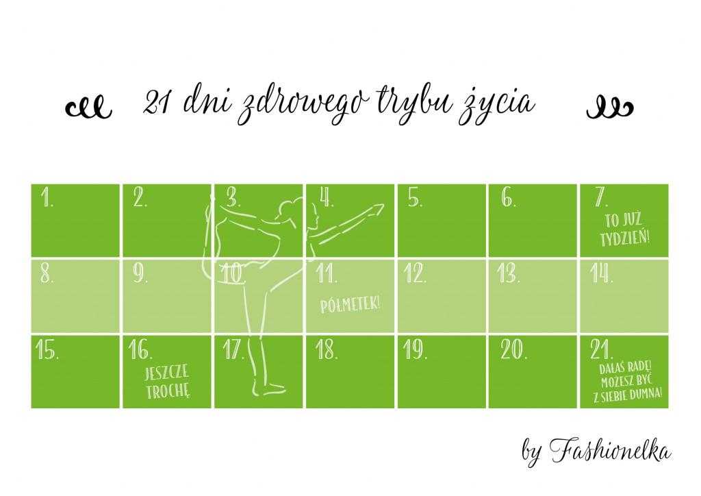 tabelka 21 zdrowego trybu zycia