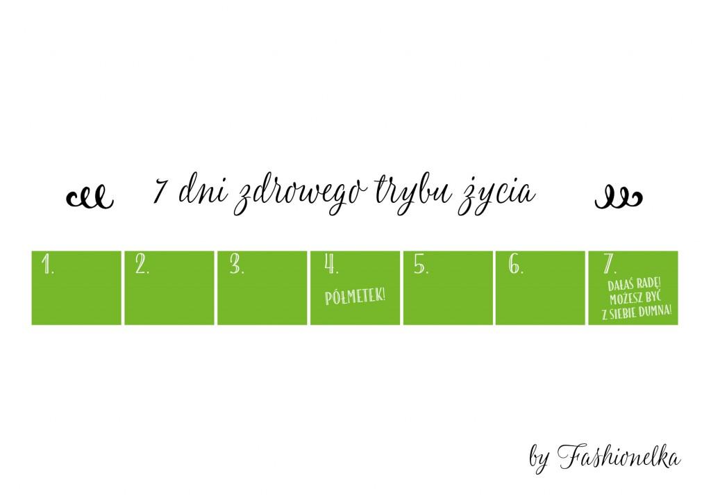 tabelka 7 dni zdrowego trybu zycia