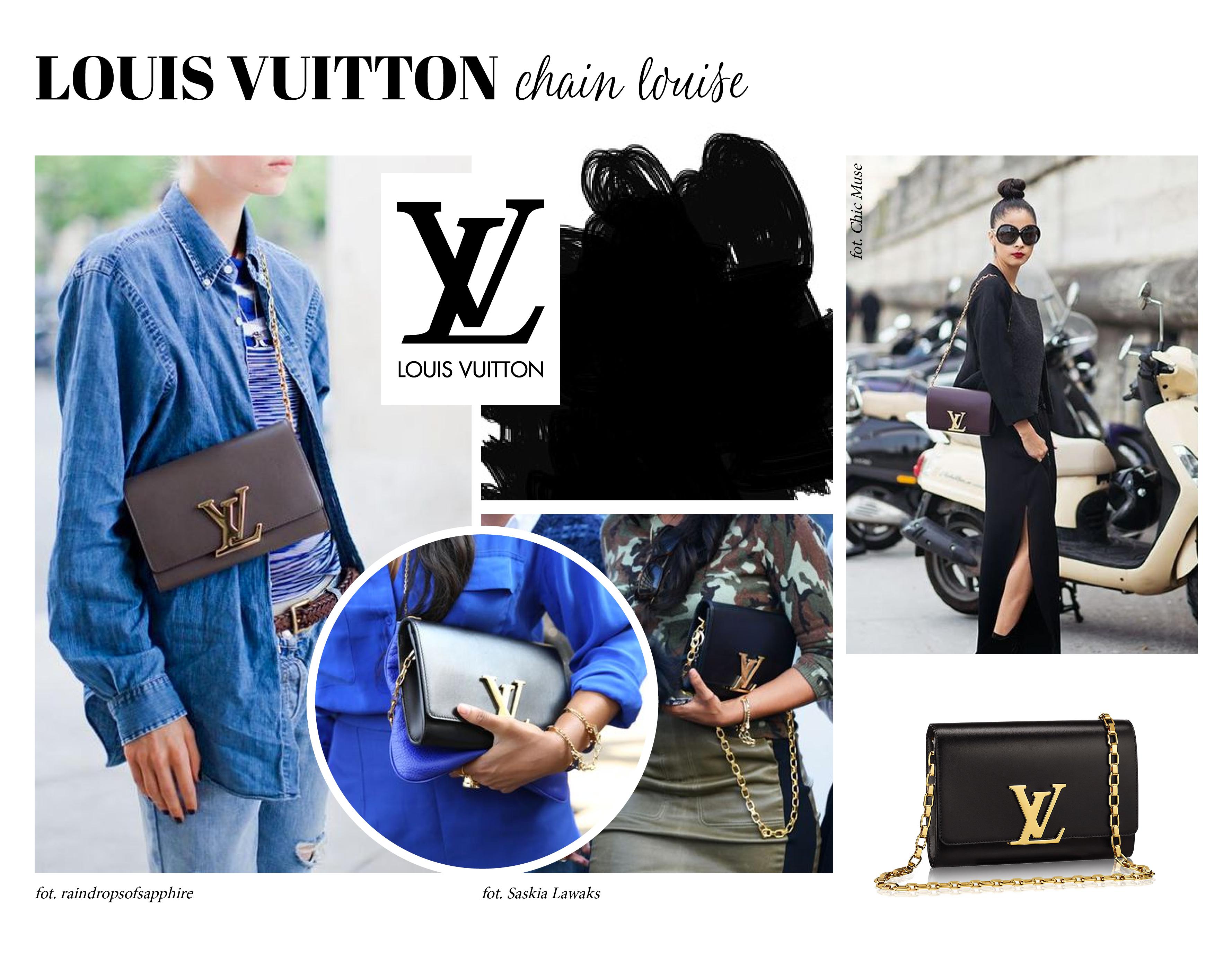 42b802b13b1f9 Louis Vuitton Chain Louise to klasa sama w sobie. Jest super kobieca i  elegancka. Nie wiem czy nie zbyt elegancka. To torebka na wielkie wyjścia.