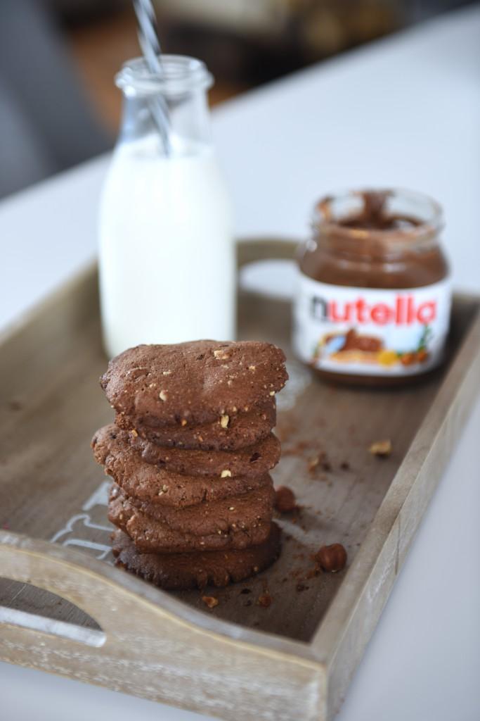 ciastka razowe z nutella
