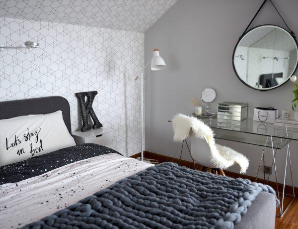 skandynwski styl sypialnia