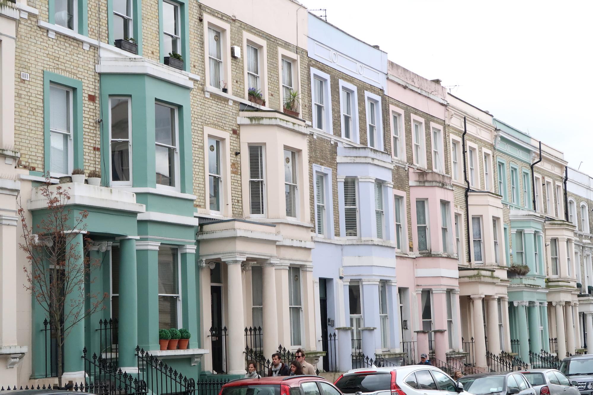notting hill kolorowe domy