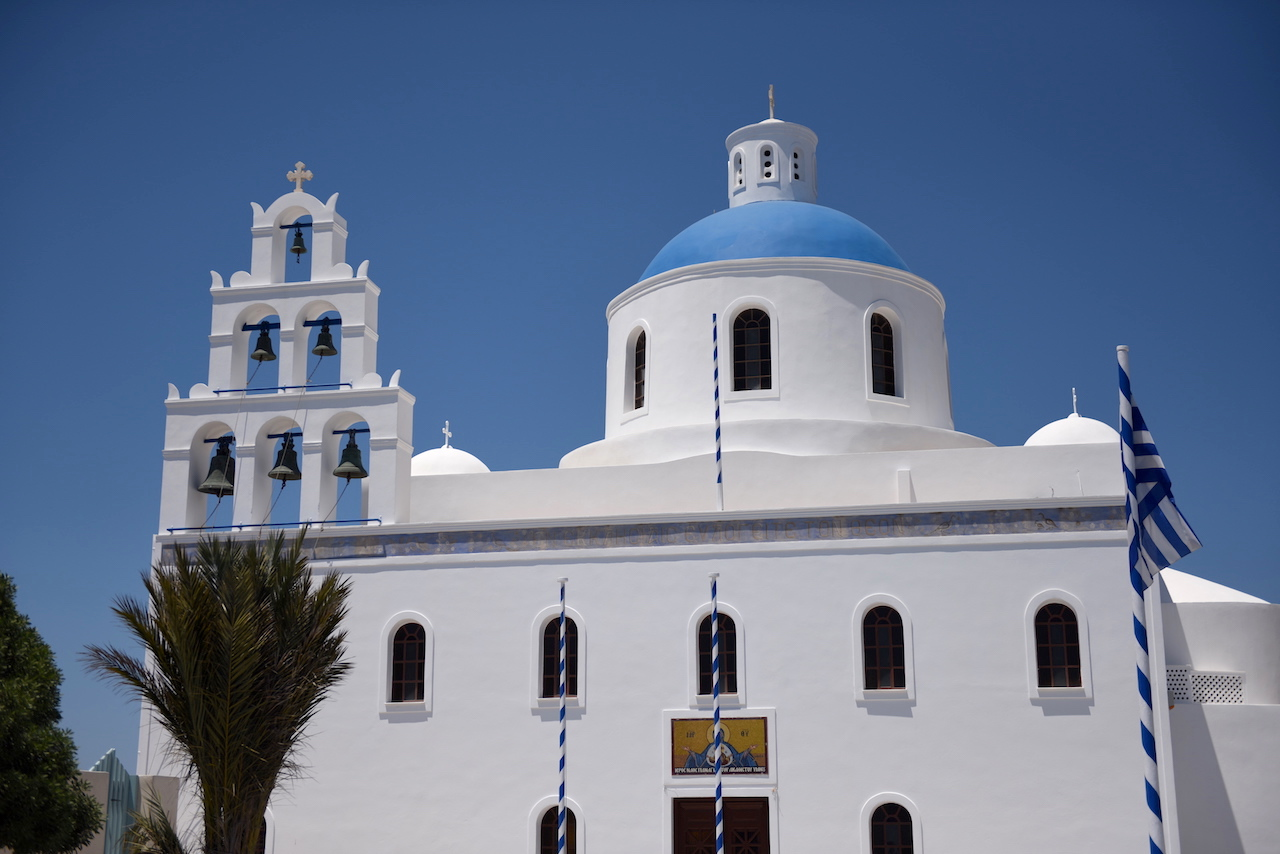 kościół santorini